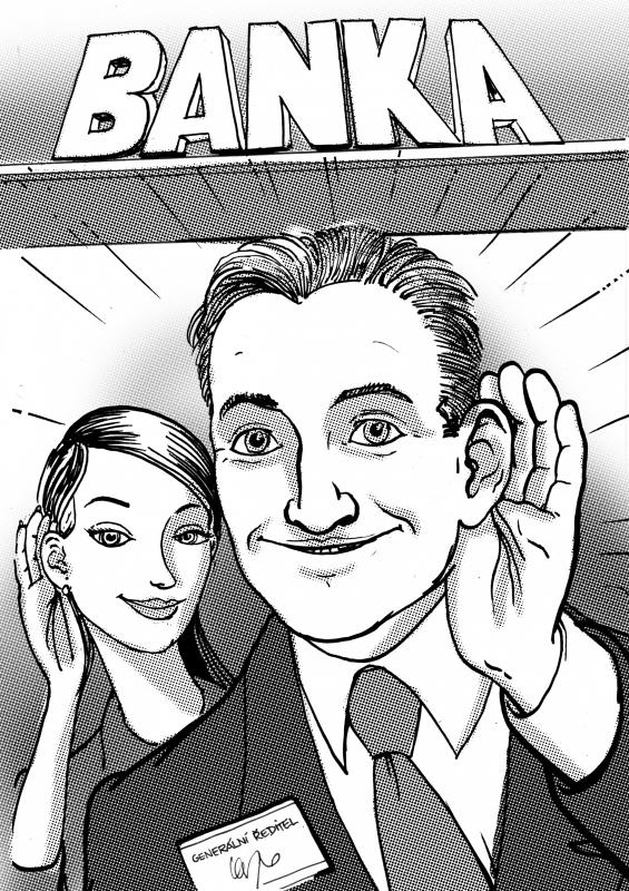 Karikatura - naslouchat klientům