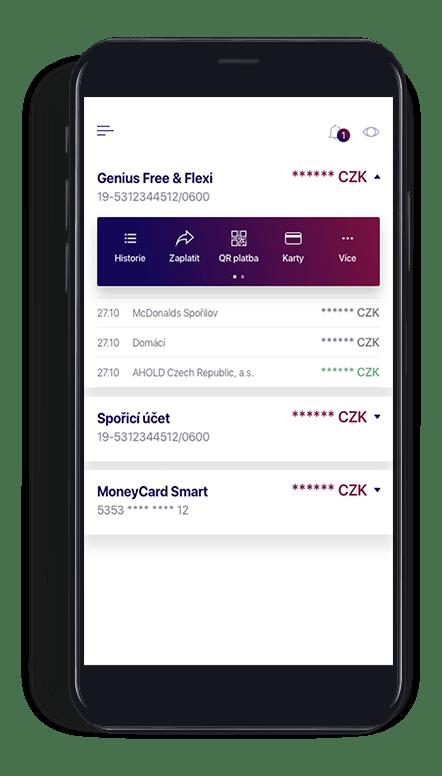 Smart Banka_diskretni mod zapnuto